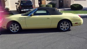 2002 Yellow Ford T-Bird